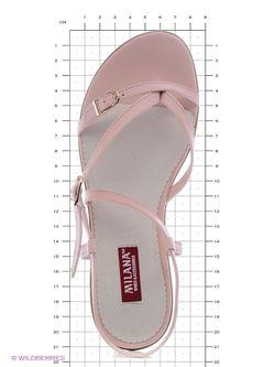 Сандалии Milana                                                                                                              розовый цвет