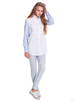 Рубашки JATRAW                                                                                                              голубой цвет