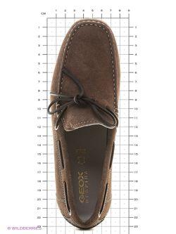 Мокасины Geox                                                                                                              коричневый цвет