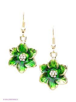 Серьги Royal Diamond                                                                                                              зелёный цвет