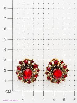 Серьги Vittorio richi                                                                                                              красный цвет