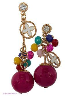 Серьги Lovely Jewelry                                                                                                              розовый цвет