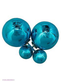Серьги Lovely Jewelry                                                                                                              голубой цвет