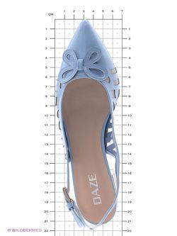 Туфли Daze                                                                                                              голубой цвет