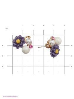 Серьги Royal Diamond                                                                                                              фиолетовый цвет