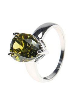Комплект Кольцо Серьги Infiniti                                                                                                              зелёный цвет