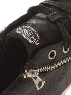 Кеды Pepe Jeans London                                                                                                              чёрный цвет