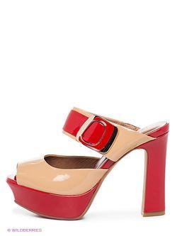 Сабо Lena Milan                                                                                                              красный цвет