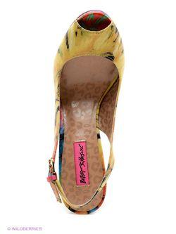 Босоножки Betsey Johnson                                                                                                              желтый цвет