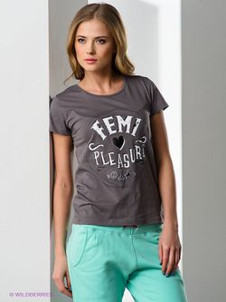 Футболки Femi Pleasure                                                                                                              серый цвет