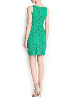 Платья Mango                                                                                                              зелёный цвет
