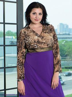 Платья Gemko plus size                                                                                                              фиолетовый цвет