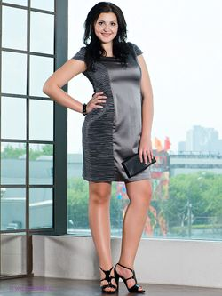 Платья Gemko plus size                                                                                                              Антрацитовый цвет