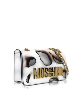 White Leather Shoulder Bag Moschino                                                                                                              белый цвет