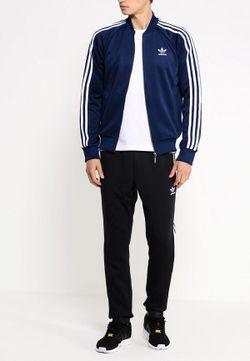 Олимпийка adidas Originals                                                                                                              синий цвет