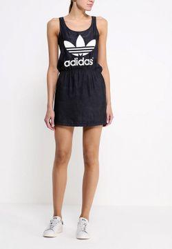 Платье adidas Originals                                                                                                              чёрный цвет