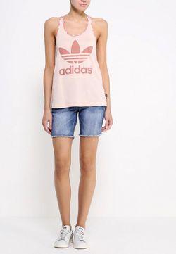 Майка adidas Originals                                                                                                              розовый цвет