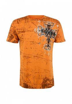 Футболка Affliction                                                                                                              оранжевый цвет