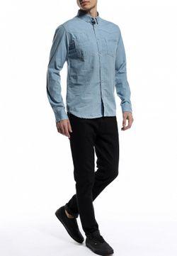 Рубашка Джинсовая Anerkjendt                                                                                                              голубой цвет