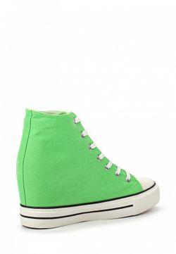 Кеды На Танкетке Bella Comoda                                                                                                              зелёный цвет