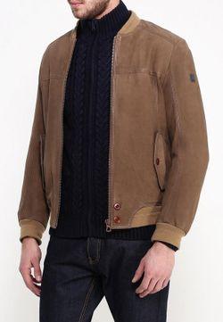 Куртка Кожаная BOSS Orange                                                                                                              коричневый цвет