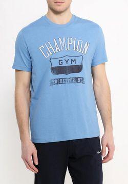 Футболка Champion                                                                                                              голубой цвет