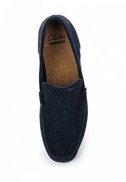 Мокасины Clarks                                                                                                              синий цвет