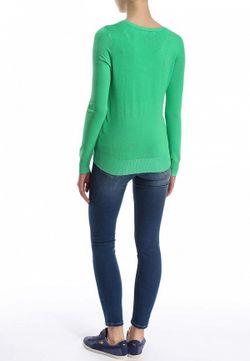 Пуловер Conver                                                                                                              зелёный цвет