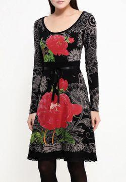Платье Desigual                                                                                                              черный цвет