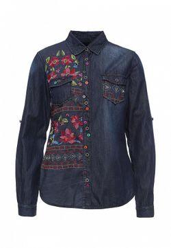 Рубашка Джинсовая Desigual                                                                                                              синий цвет