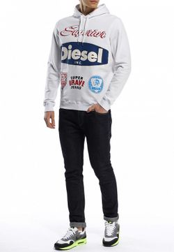 Худи Diesel                                                                                                              белый цвет