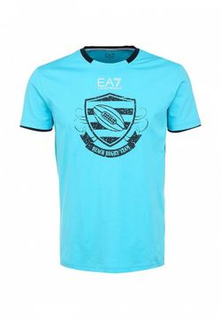 Футболка EA7                                                                                                              голубой цвет