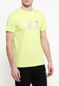 Футболка EA7                                                                                                              желтый цвет