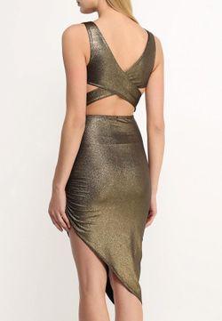 Платье Edge Clothing                                                                                                              золотой цвет