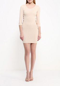 Платье Edge Clothing                                                                                                              бежевый цвет