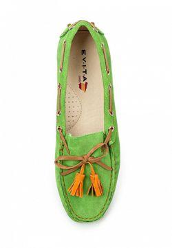 Мокасины Evita                                                                                                              зелёный цвет