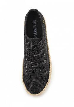 Кеды Exquily                                                                                                              чёрный цвет