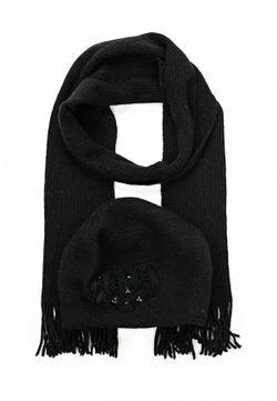 Комплект Шапка И Шарф Fabretti                                                                                                              черный цвет