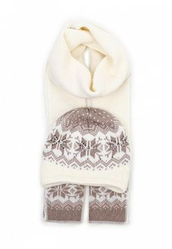 Комплект Шапка И Шарф Ferz                                                                                                              белый цвет