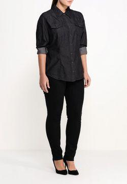 Рубашка Джинсовая Fiorella Rubino                                                                                                              чёрный цвет