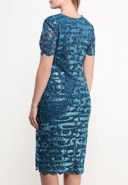 Платье Goddiva Size Plus                                                                                                              синий цвет