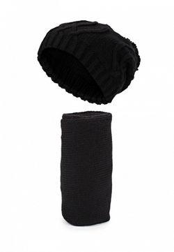 Комплект Шапка И Шарф Greenmandarin                                                                                                              черный цвет
