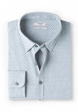 Рубашка Mango Man                                                                                                              голубой цвет