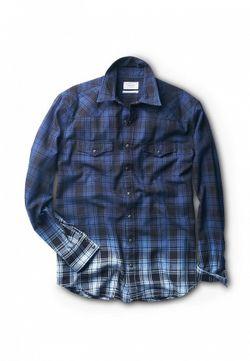 Рубашка Mango Man                                                                                                              синий цвет
