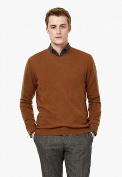 Пуловер Mango Man                                                                                                              коричневый цвет
