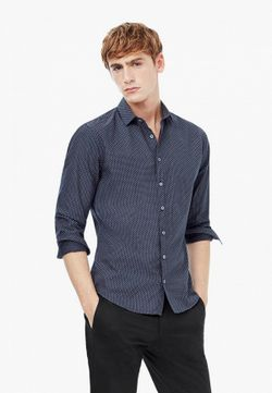 Рубашка Mango Man                                                                                                              серый цвет