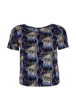 Блуза ICHI                                                                                                              синий цвет