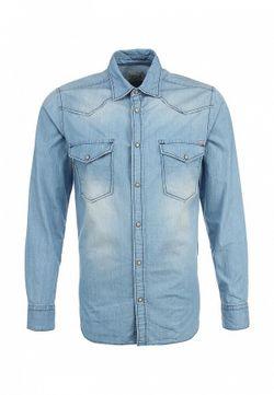 Рубашка Джинсовая Jack & Jones                                                                                                              голубой цвет