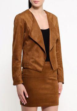 Жакет Jacqueline de Yong                                                                                                              коричневый цвет