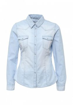 Рубашка Джинсовая Jennyfer                                                                                                              голубой цвет